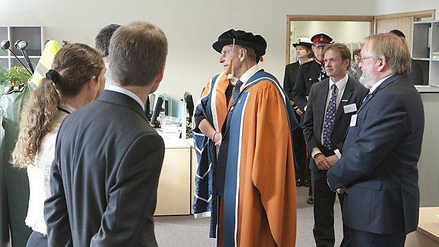 <p>HRH The Duke of Edinburgh opens the University of Plymouth's Marine Building</p>