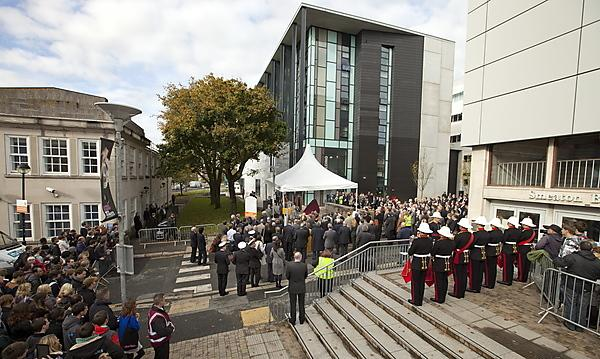 <p>HRH The Duke of Edinburgh opens the University of Plymouth's Marine Building<br></p>