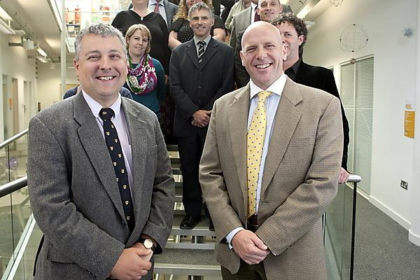 Professor Dafydd Moore and Major Jason Burcham launch the partnership