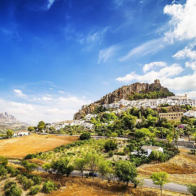<p>Zahara de la Sierra, beautiful town located in the Sierra de Grazalema, Cadiz (Andalusia), Spain.<br></p>