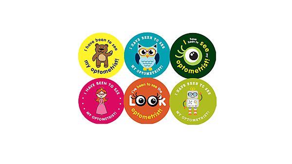 <p>Paediatric Week at CEE - optometry stickers</p>
