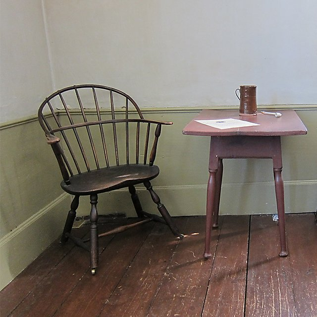 <p>Table and chairs at Powderham Castle (square)</p>
