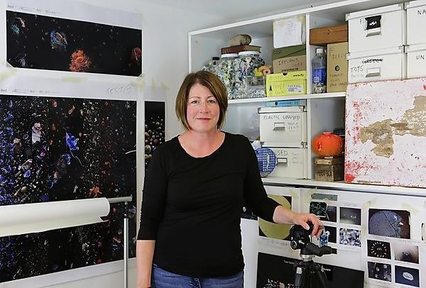 Artist Mandy Barker in her studio (Credit Mandy Barker)