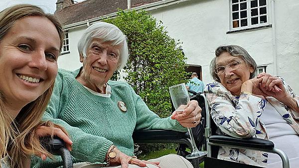 Dr Emma Rendle with her Grandmother on her 90th Birthday, and older cousin Barbara, in September 2019 (Credit Emma Rendle)