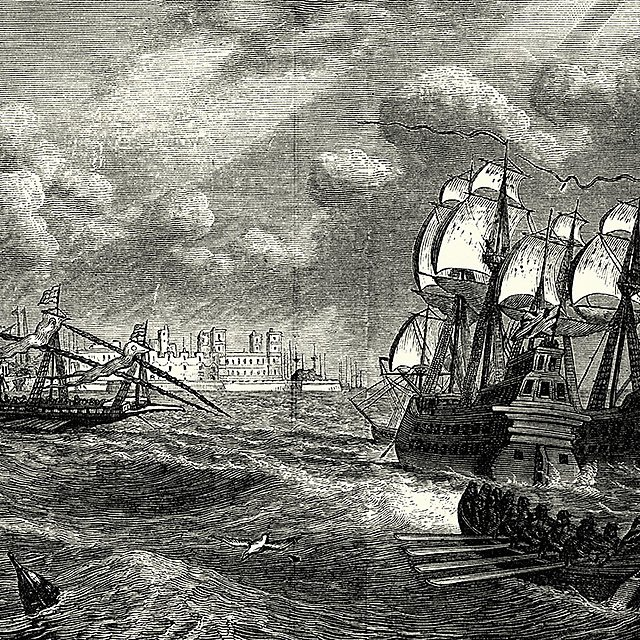 <p>Drake against the Spanish naval forces assembling at Cadiz<br></p>