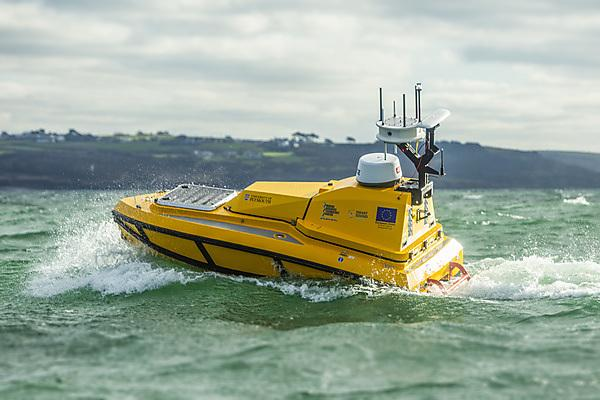 <p>The USV CETUS is capable of conducting cutting edge marine research within the Smart Sound Plymouth offshore proving area (Credit University of Plymouth)<br></p>