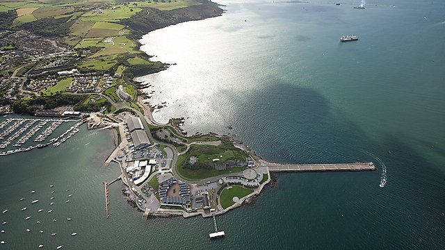 <p>Aerial view of Plymouth Sound</p>