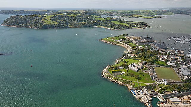 <p>Aerial view of Plymouth Sound<br></p>