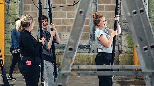 <p>Julia and Cary on placement with 'Trigger'.</p>