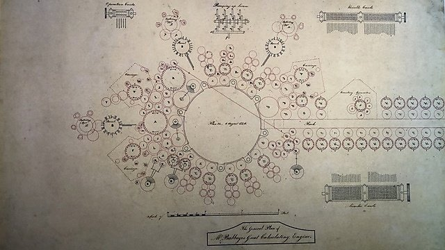 "<p></p><div></div>Photo of Babbage Analytical Engine Plan from 1840 at the Computer History Museum.<br><p></p><p></p><table><tbody><tr><td class=""wysiwyg-tmp-selected-cell"">Author</td><td><a href=""https://commons.wikimedia.org/wiki/User:ArnoldReinhold"">ArnoldReinhold</a></td></tr></tbody></table><br>This file is licensed under the <a href=""https://en.wikipedia.org/wiki/en:Creative_Commons"">Creative Commons</a>&nbsp;<a href=""https://creativecommons.org/licenses/by/4.0/deed.en"">Attribution 4.0 International</a>&nbsp;license.<br><br><p></p>"