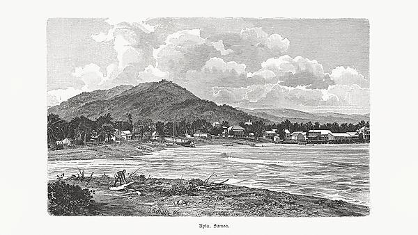 Historical image of Upia, Samoa
