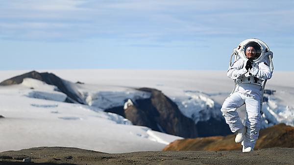 Testing the NASA MS1 Suit on a volcano in Iceland
