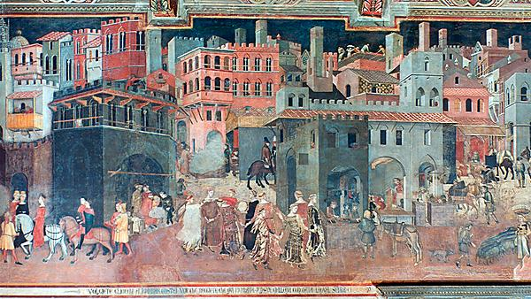 'Effects of Good Government on the City Life' by Ambrogio Lorenzetti