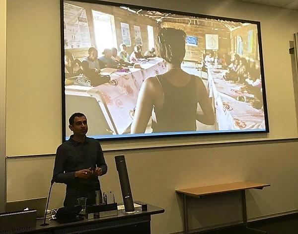 Flowa Houldsworth talking at the Exeter Global Health Careers Conference