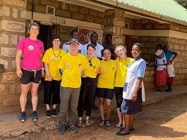 TeamTalk volunteers including medical student Jonathan Murphy and  co-founder of Future Health Africa Dr Lucy Obolensky.