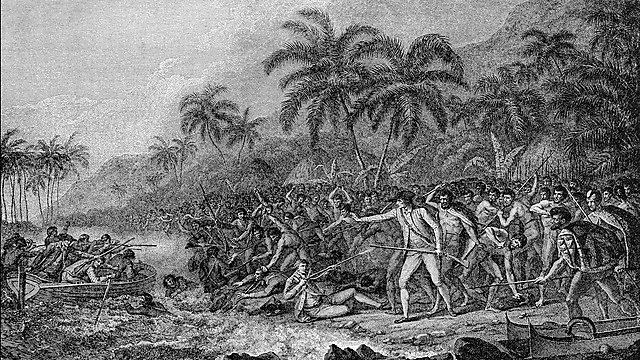 <p>Death of James Cook. Getty Images</p>