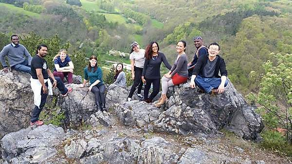 Katherine and her Erasmus Mundus group