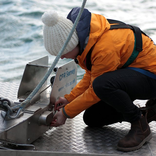 <p>The Continuous Plankton Recorder device is towed in surface waters and occupies a similar space to a marine mammal (Credit Marine Biological Association)<br></p>