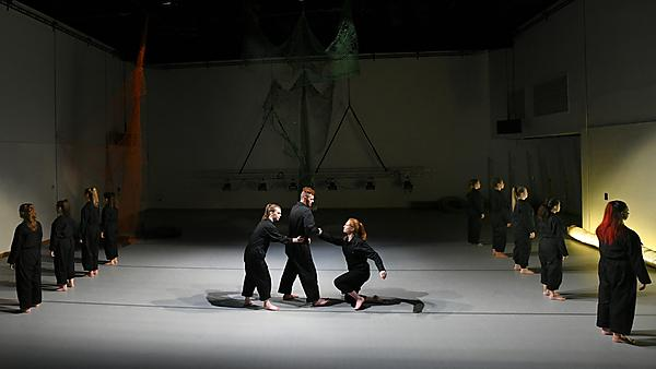 <p>Students performing in the house.</p>