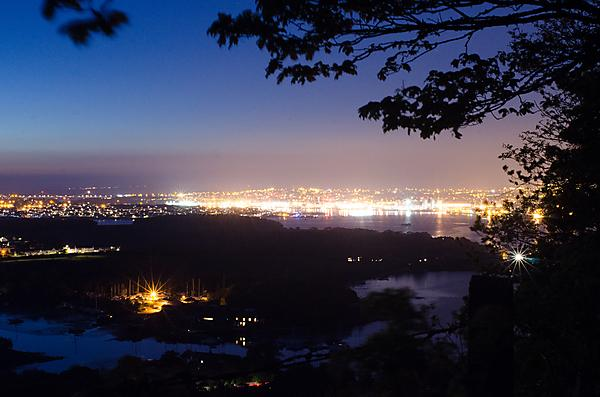 <p>Street lighting creates an artificial glow in the night sky above Plymouth and the surrounding areas (Credit: Thomas Davies)<br></p>