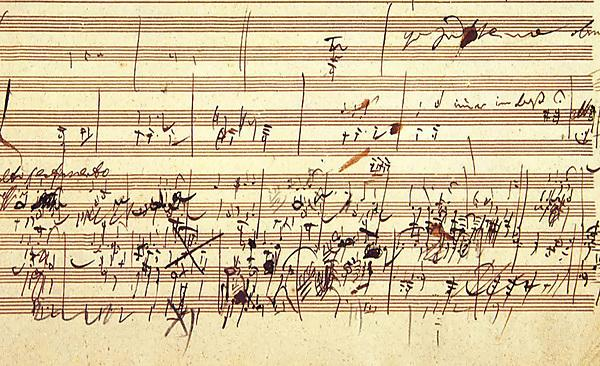 <p>Beethoven's sketch for the third movement of <i>Piano Sonata Op. 109</i>, <i>Artaria 195</i> sketchbook, p.53<br></p>