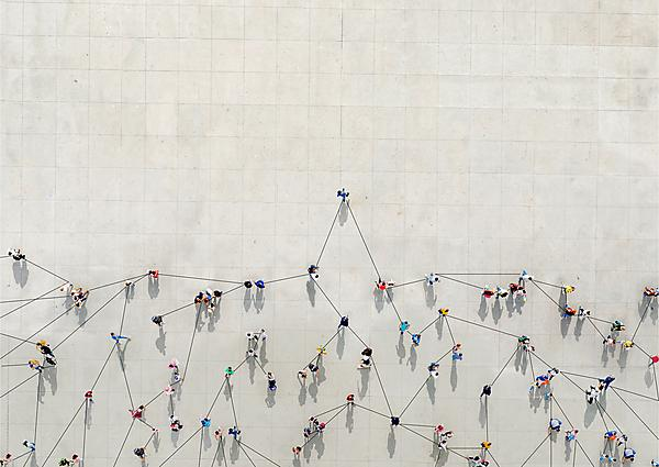 <p>Crowd from above forming a growth graph -&nbsp;Getty<br></p>