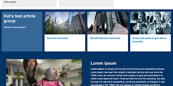 Updating feature panels: example of developing the Article Groups style