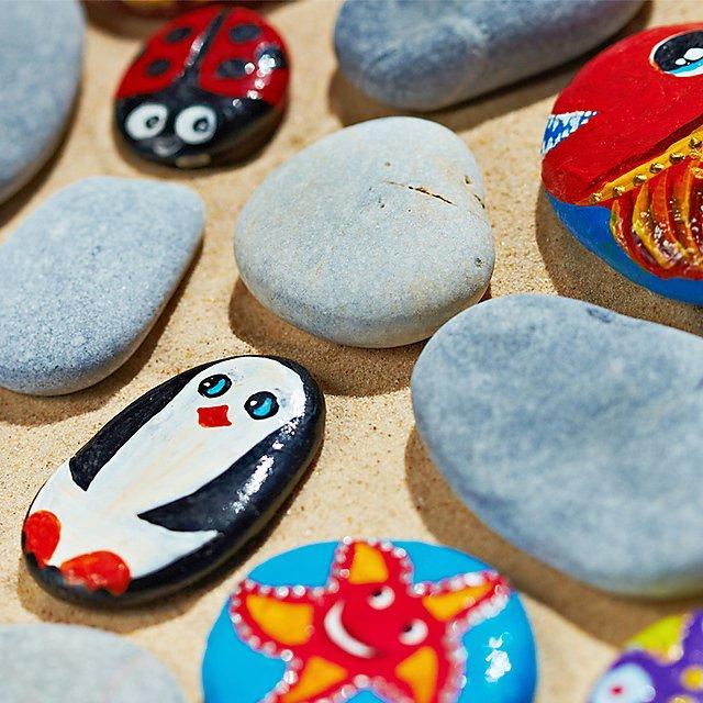 <p>Painted pebbles<br></p>