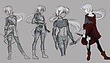 Character Pose Study by Ella Cuddihee