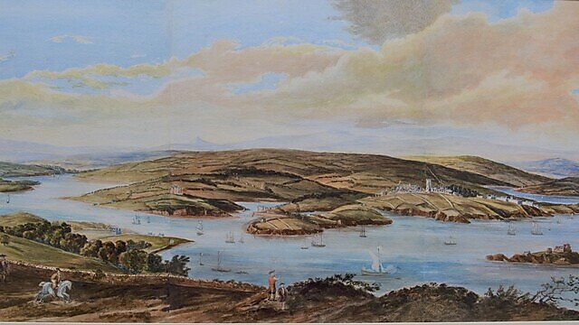<p>                 <b>Du Busc: Plymouth from Mount Edgcumbe c. 1680 </b>   <br></p>