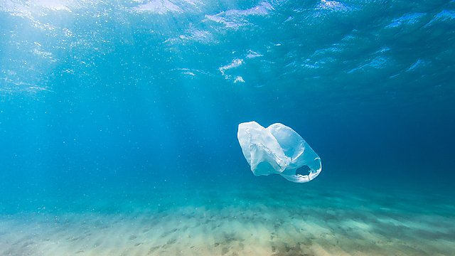<p>Getty image plastic bag sea</p>