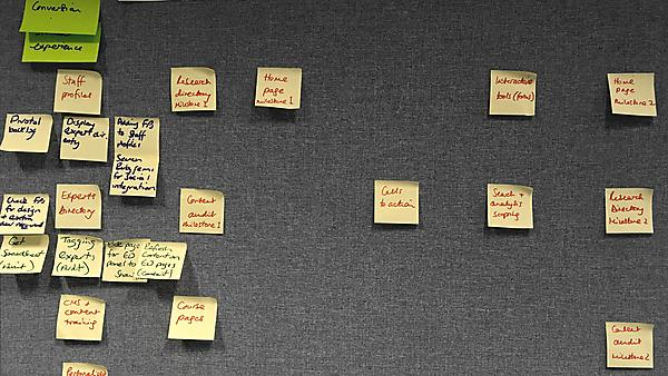Project scoping: planning using post it notes before working in Pivotal Tracker