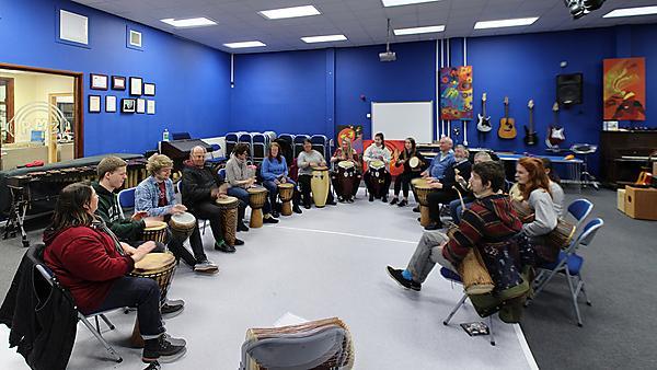 Drum session at PMZ
