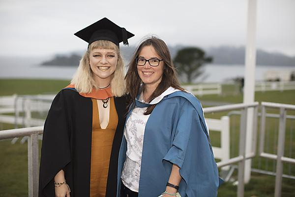 Emma Longden at her graduation with Dr Clare Embling
