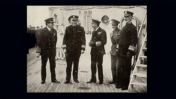 <p>Beatty, Rodman, King George V, King Edward VIII and Sims. Image courtesy of Wikimedia Commons<br></p>