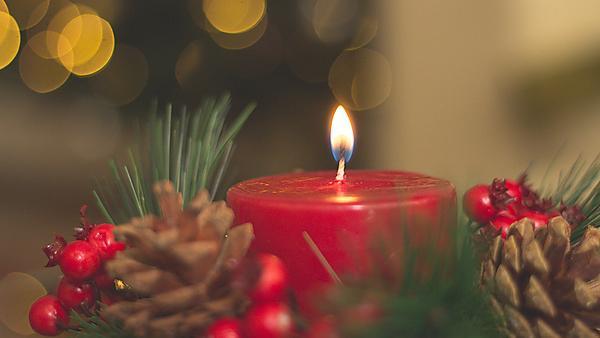 <p>Christmas festive candle scene</p>