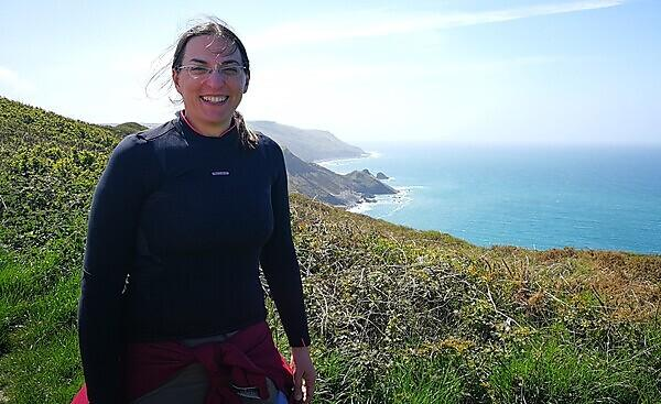 Dr Irene Manzella on the South West coast where she will be working for the SENSUM project