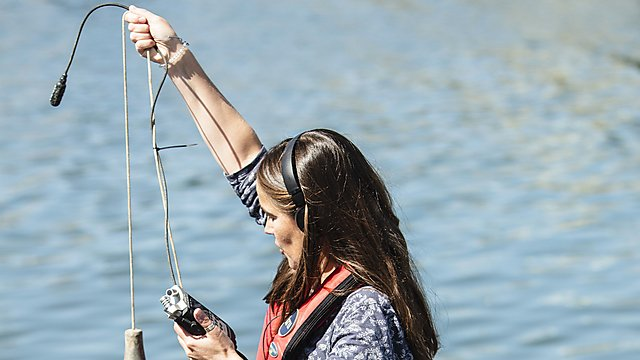 <p>Dr Clare Embling hydrophone research<br></p>
