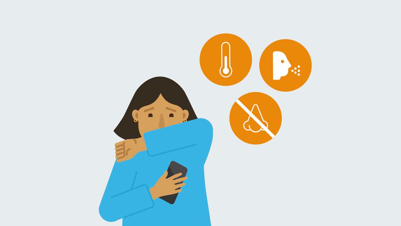 8. Use the app to record COVID-19 symptoms