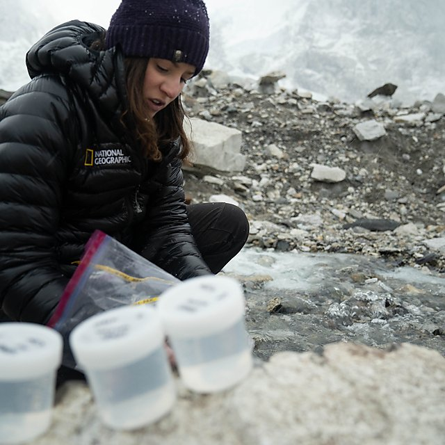 <p>Samples are collected near Everest Base Camp during the National Geographic and Rolex Perpetual Planet Everest Expedition (Credit Brittany Mumma, National Geographic)<br></p>