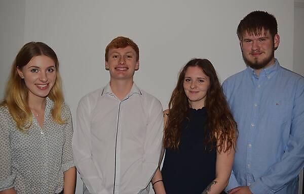 Lauren Pollard, Mark Turner,  Sancha Conway Holroyd and William Jones