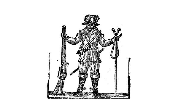 <p>  Civil War soldier taken from military and spiritual motions for foot companies (London, 1645) &nbsp;  <br></p>