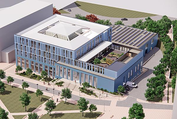 <p>The University of Plymouth's new engineering and design facility - aerial view<br></p>