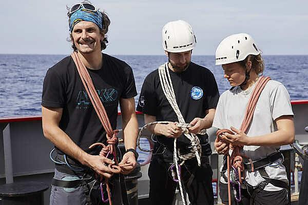 Learning the safety clove-hitch, photo credit: Ed Luke