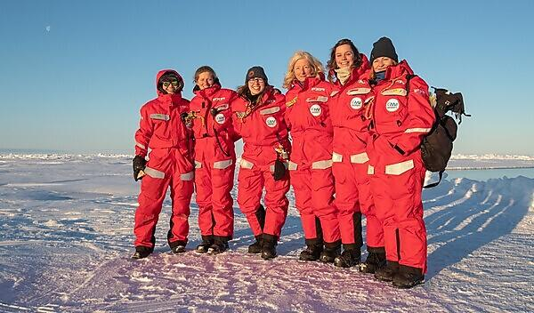 The ladies of Team Ecosystem, with Katrin third from right (Credit: Lianna Nixon)