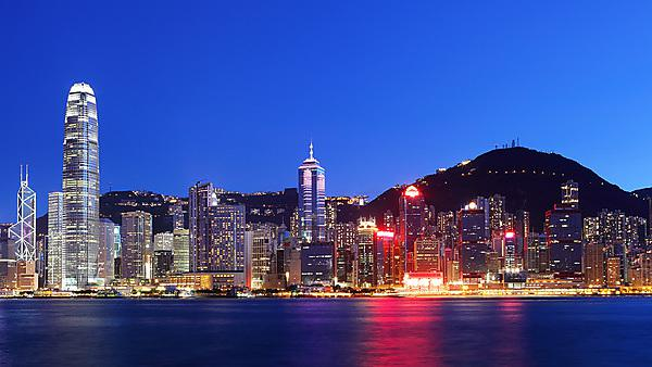 Hong Kong at night. Courtesy of Shutterstock