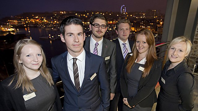 Faculty of Business students in the winning Flux 2011 team
