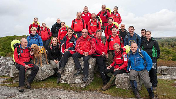 Plymouth's Dartmoor Search and Rescue Team, on Dartmoor.