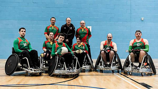 Westcountry Hawks wheelchair rugby team
