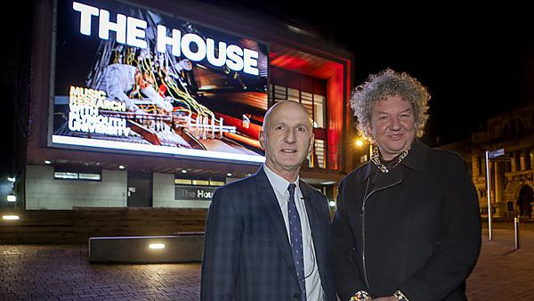 Professor David Coslett with architect Nicholas Burwell at the launch of The House